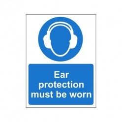 Ear Protection Must Be Worn Non Slip Floor Sign