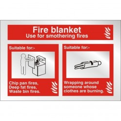 Prestige Fire Blanket Sign 150 x 100mm