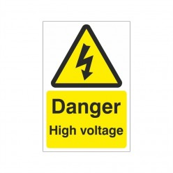 Danger High Voltage Electrical Sign