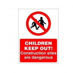 Children Keep Out Construction Sign