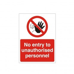 No Entry To Unauthorized...