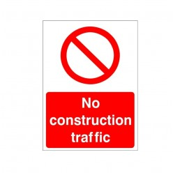No Construction Traffic Sign