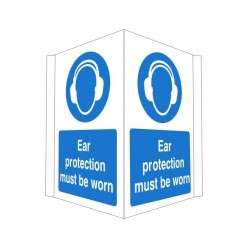 Ear Protection Must Be Worn Projecting Sign