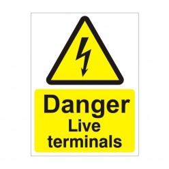 Danger Live Terminals Safety Sign