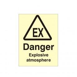 Danger Explosive Atmosphere Photoluminescent Sign