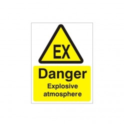 Danger Explosive Atmosphere Warning Sign - 150mm x 200mm