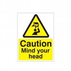 Caution Mind Your Head Warning Sign