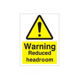 Warning Reduced Headroom Sign