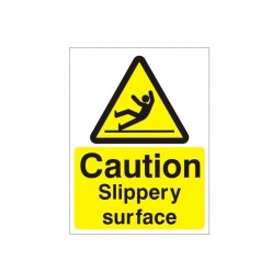 Caution Slippery Surface Sign - 150mm x 200mm