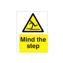 Mind The Step Warning Sign - 150mm x 200mm
