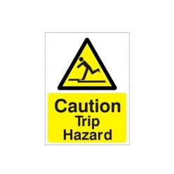 Caution Trip Hazard Warning Sign