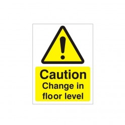 Caution Change In Floor Level Warning Sign - 150mm x 200mm