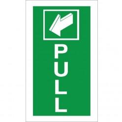 Pull Arrow Backwards Sign