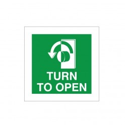 Turn To Open Arrow Left Sign