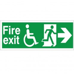 Refuge Fire Exit Arrow Right Sign