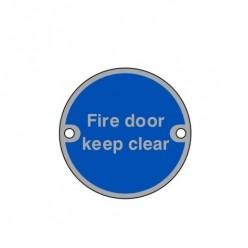 Fire Door Keep Clear Aluminum Sign