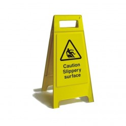Caution Slippery Surface Free Standing Sign 600mm