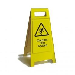 Caution Trip Hazard Free Standing Sign 600mm