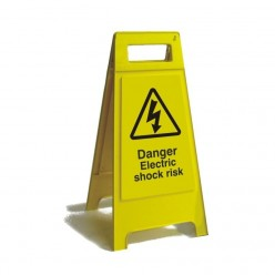 Danger Electric Shock Risk Free Standing Sign 600mm