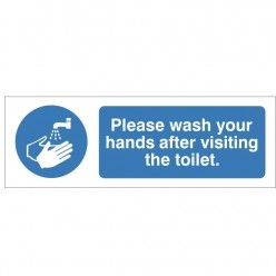 Please Wash YourHands After Visiting The Toilet Sign