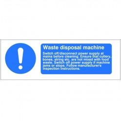 Waste Disposal Machine Hygiene Sign