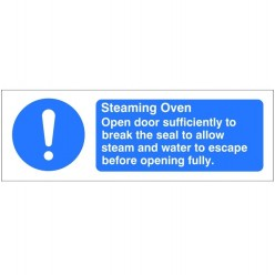 Steaming Oven Hygiene Sign