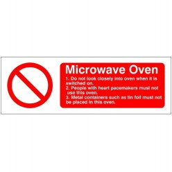 Microwave Oven Hygiene Sign