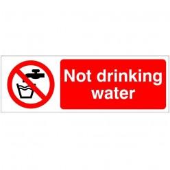 Not Drinking Water Hygeine Sign