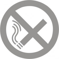 Glass Safety No Smoking Sign 100mm x 100mm