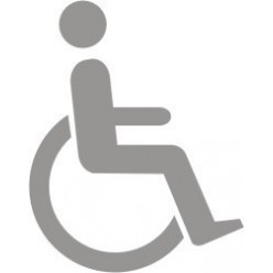 Glass Safety Disabled Sign