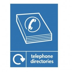 Telephone Directories Recycling Sign