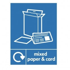 Mixed Paper And Card Recycling Sign