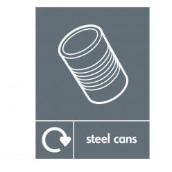 Stell Cans Recycling Sign