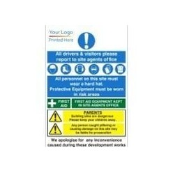 Corporate PPE/First Aid Sign