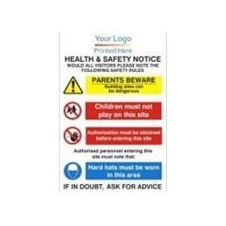 Corporate Health And Safety Notice Sign