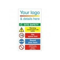 Corporate Site Safety Traffic Sign