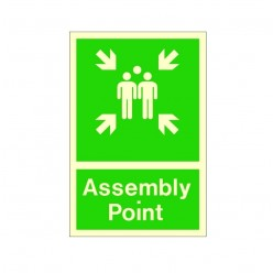 Photoluminescent Assembly Point Sign