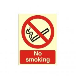 No Smoking Photoluminescent Sign