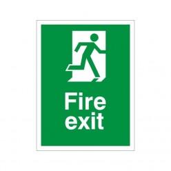 Non Slip Fire Exit Floor Sign