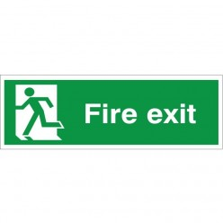 Fire Exit Man Running Left...