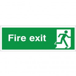 Fire Exit Running Man Right...