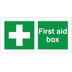 First Aid Box Sign 200 x 100mm