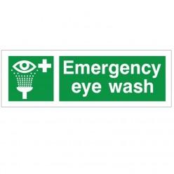 Emergency Eye Wash Sign 300 x 100mm