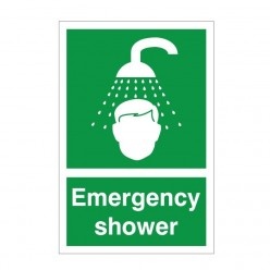 Emergency Shower First Aid Sign