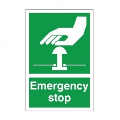 Emergency Stop Sign 200 x 300mm