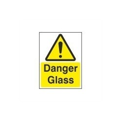 Danger Glass Sign