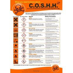 COSHH Regulations Poster - 420mm x 595mm
