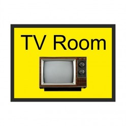 TV Room Dementia Sign 300 x 200mm