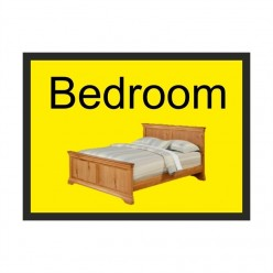 Bedroom Dementia Sign 300 x 200mm