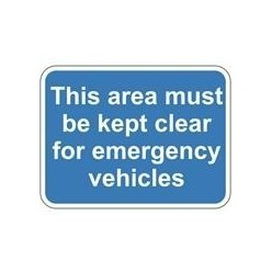 Area Keep Clear Sign 600 x 450mm